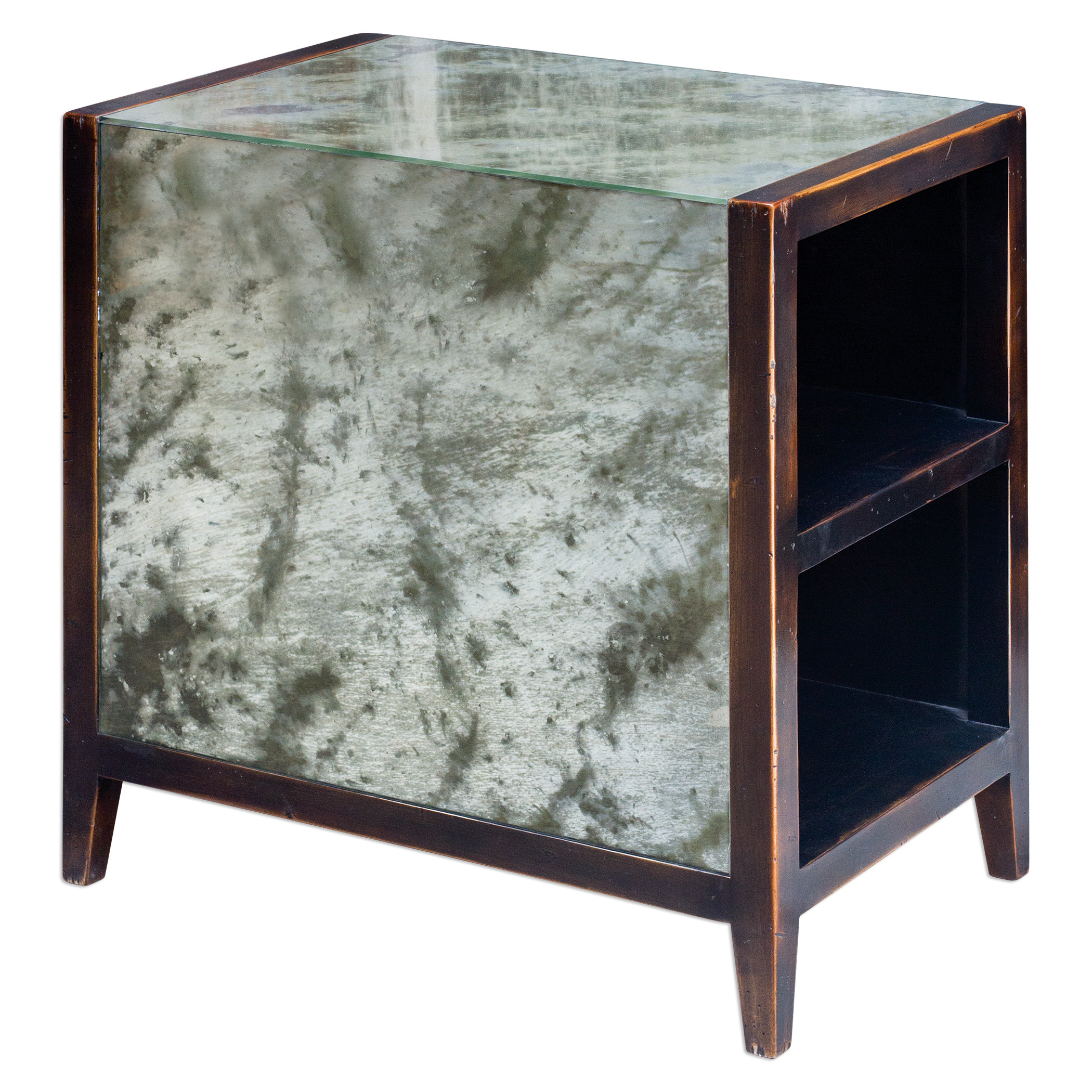 Uttermost Accent Furniture Tierney Antique Mirror End Table - Item Number: 25713