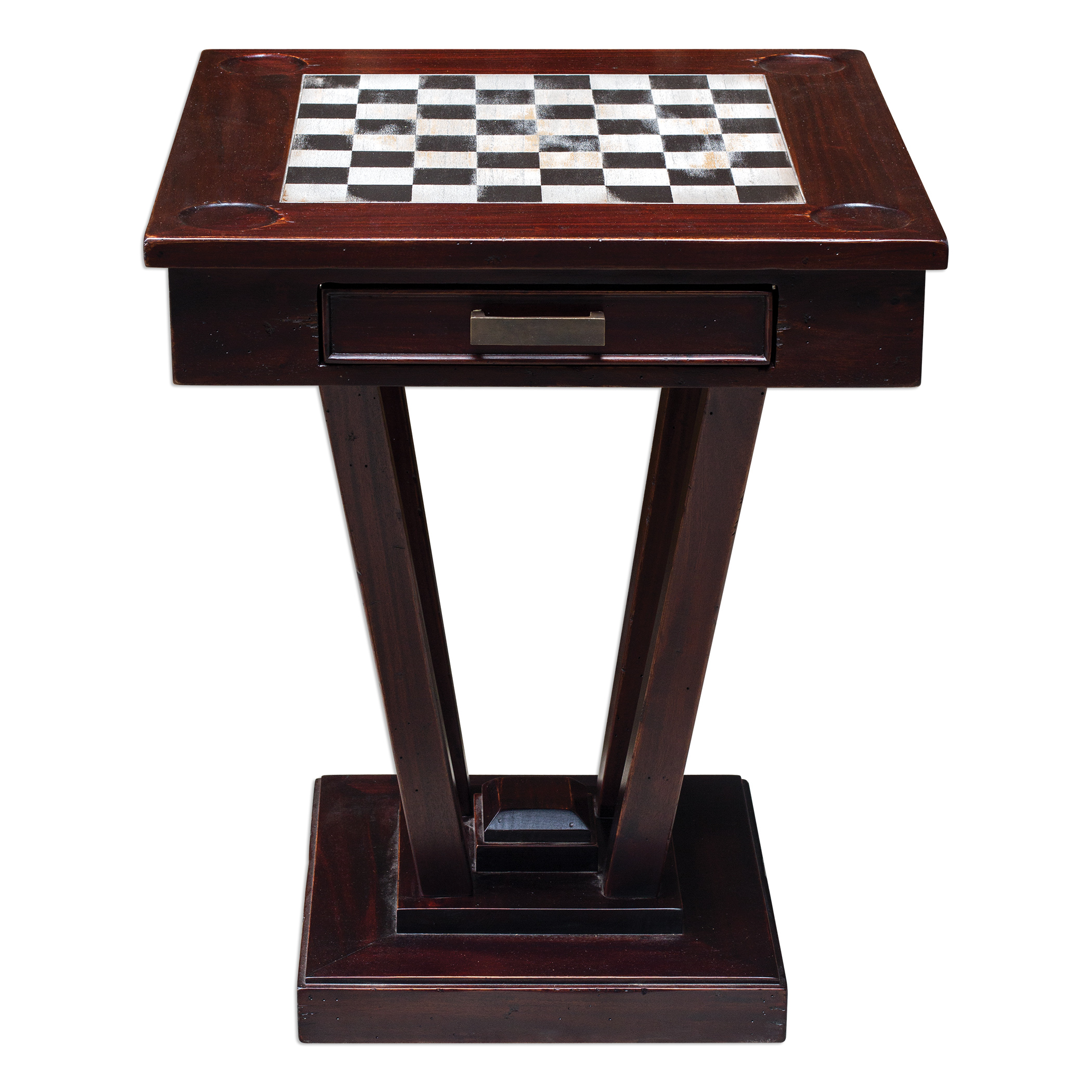 Uttermost Accent Furniture Fineas Wood Game Table - Item Number: 25716