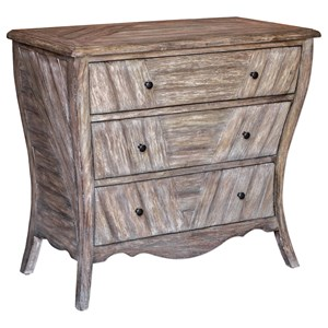 Uttermost Accent Furniture Gimbya Wooden Three Drawer Chest