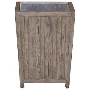 Uttermost Accent Furniture Jira Aged White Waste Bin
