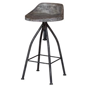 Uttermost Accent Furniture Kairu Wooden Bar Stool