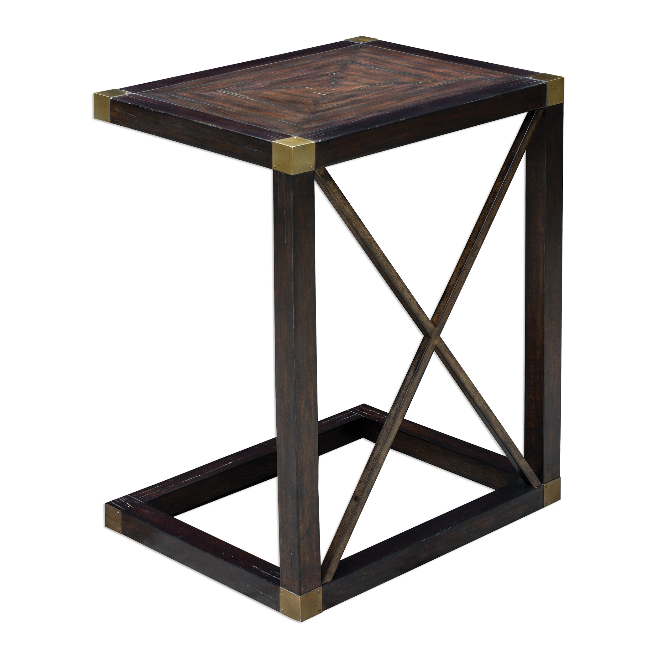 Uttermost Accent Furniture Kendi Dusty Black Side Table - Item Number: 25727