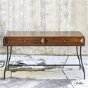 Uttermost Accent Furniture Edric Writing Desk with Two Drawers