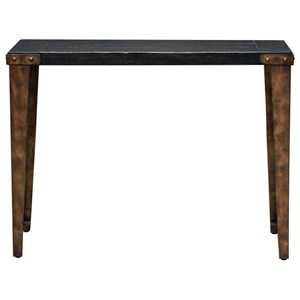 Uttermost Accent Furniture Atilo Worn Black Console Table
