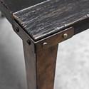 Uttermost Accent Furniture Atilo Worn Black Console Table