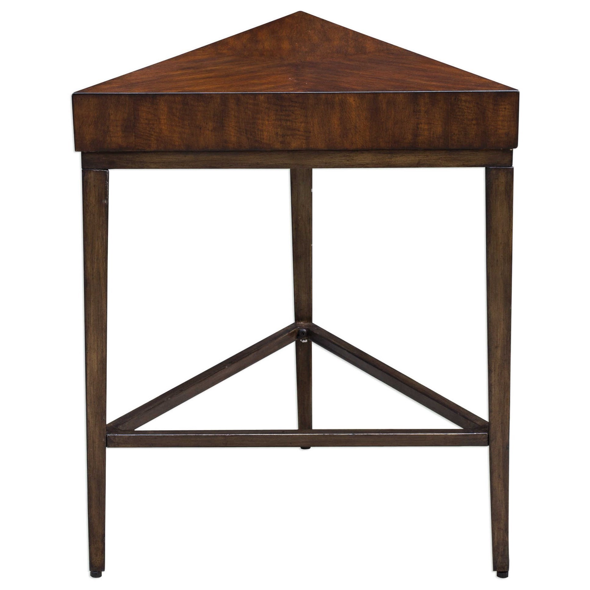 Uttermost Accent Furniture Ingo Triangle Accent Table - Item Number: 25766