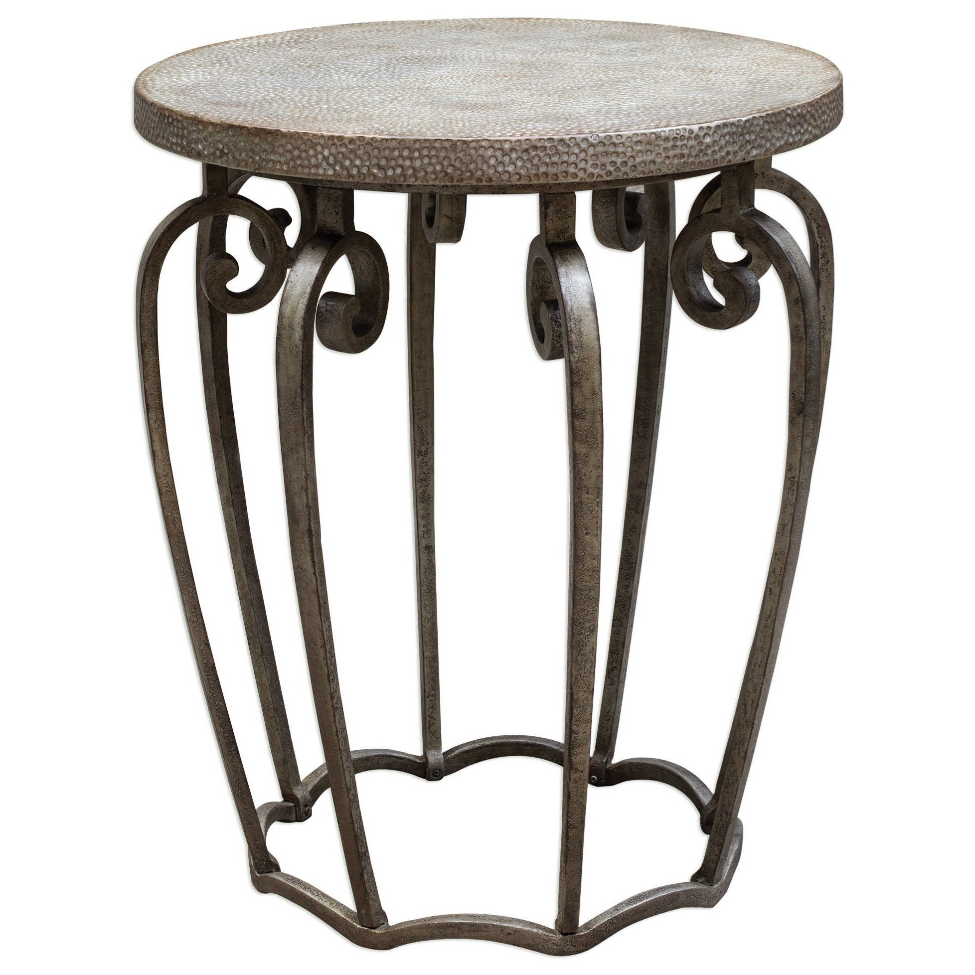 Uttermost Accent Furniture Anina Hammered Iron Accent Table - Item Number: 25769