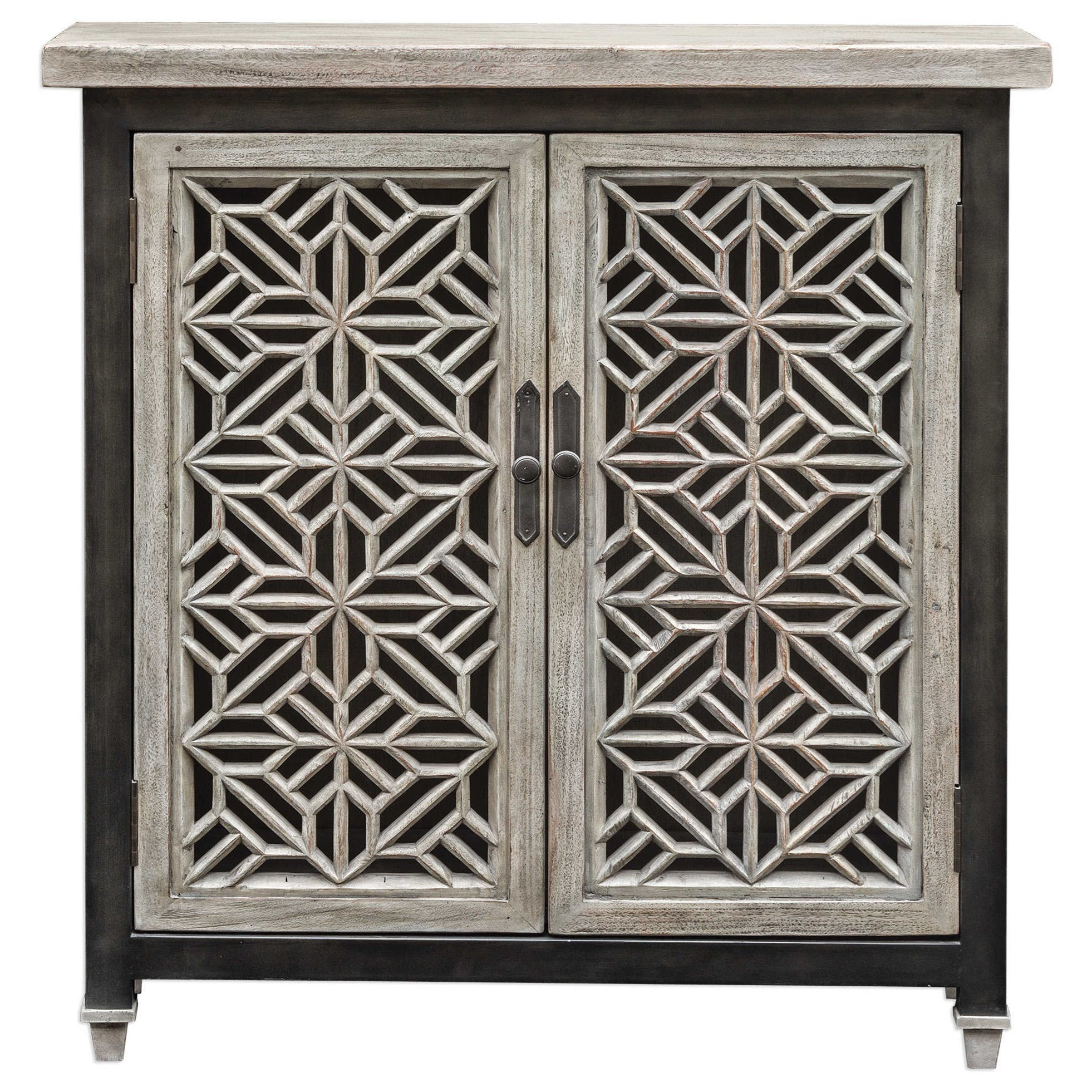 Accent Furniture - Chests Branwen Aged White Accent Cabinet by Uttermost at Suburban Furniture