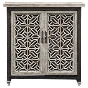 Uttermost Accent Furniture Branwen Aged White Accent Cabinet