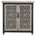 Uttermost Accent Furniture - Chests Branwen Aged White Accent Cabinet - Item Number: 25772