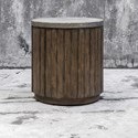 Uttermost Accent Furniture Maxfield Wooden Drum Accent Table