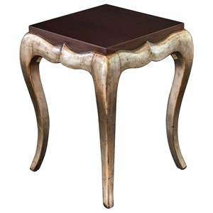 Uttermost Accent Furniture Verena Champagne End Table