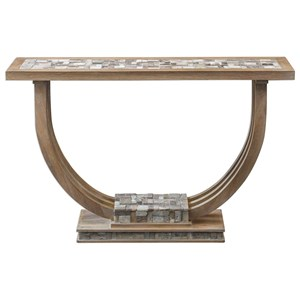 Uttermost Accent Furniture Jadrian Mosaic Console Table