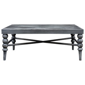 Uttermost Accent Furniture Kunja Gray Coffee Table