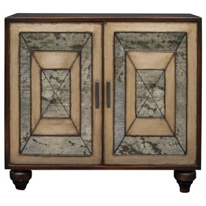 Uttermost Accent Furniture Caroline Antique Mirror Accent Cabinet