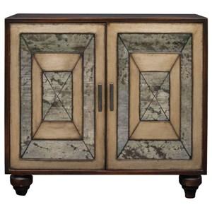 Uttermost Accent Furniture Caroline Antique Mirror Accent Cabinet