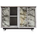 Uttermost Accent Furniture Corban Aged Ivory Console Cabinet