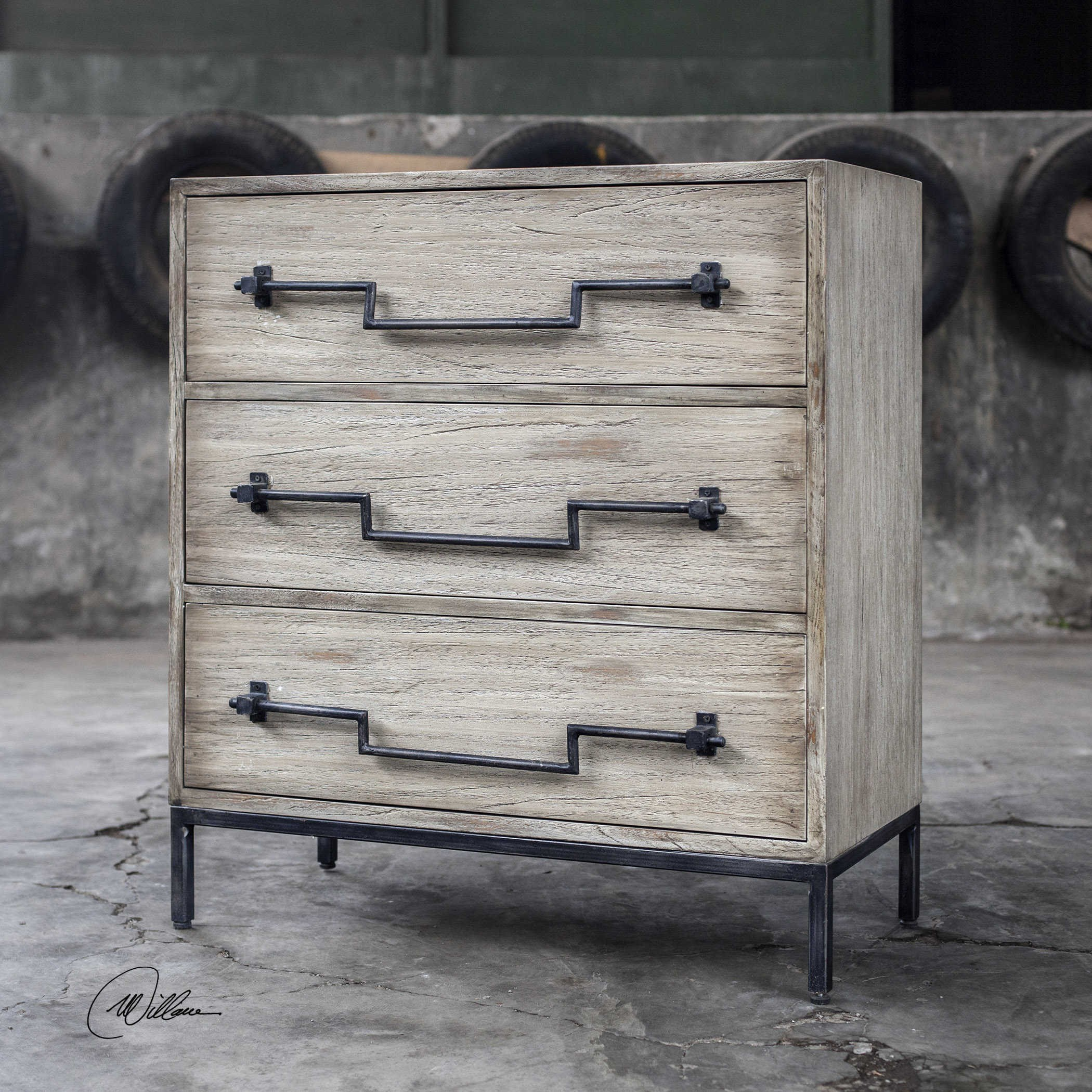Accent Furniture - Chests Jory Aged Ivory Accent Chest by Uttermost at Del Sol Furniture