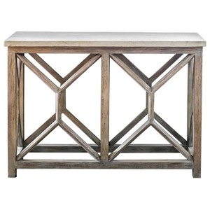 Uttermost Accent Furniture Catali Ivory Stone Console Table