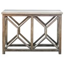 Uttermost Accent Furniture - Occasional Tables Catali Ivory Stone Console Table - Item Number: 25811