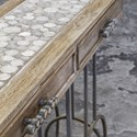 Uttermost Accent Furniture Silana Stone Mosaic Console Table