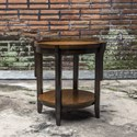 Uttermost Accent Furniture Sigmon Round Wooden End Table