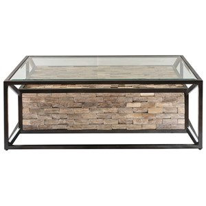 Uttermost Accent Furniture Kono Reclaimed Teak Coffee Table