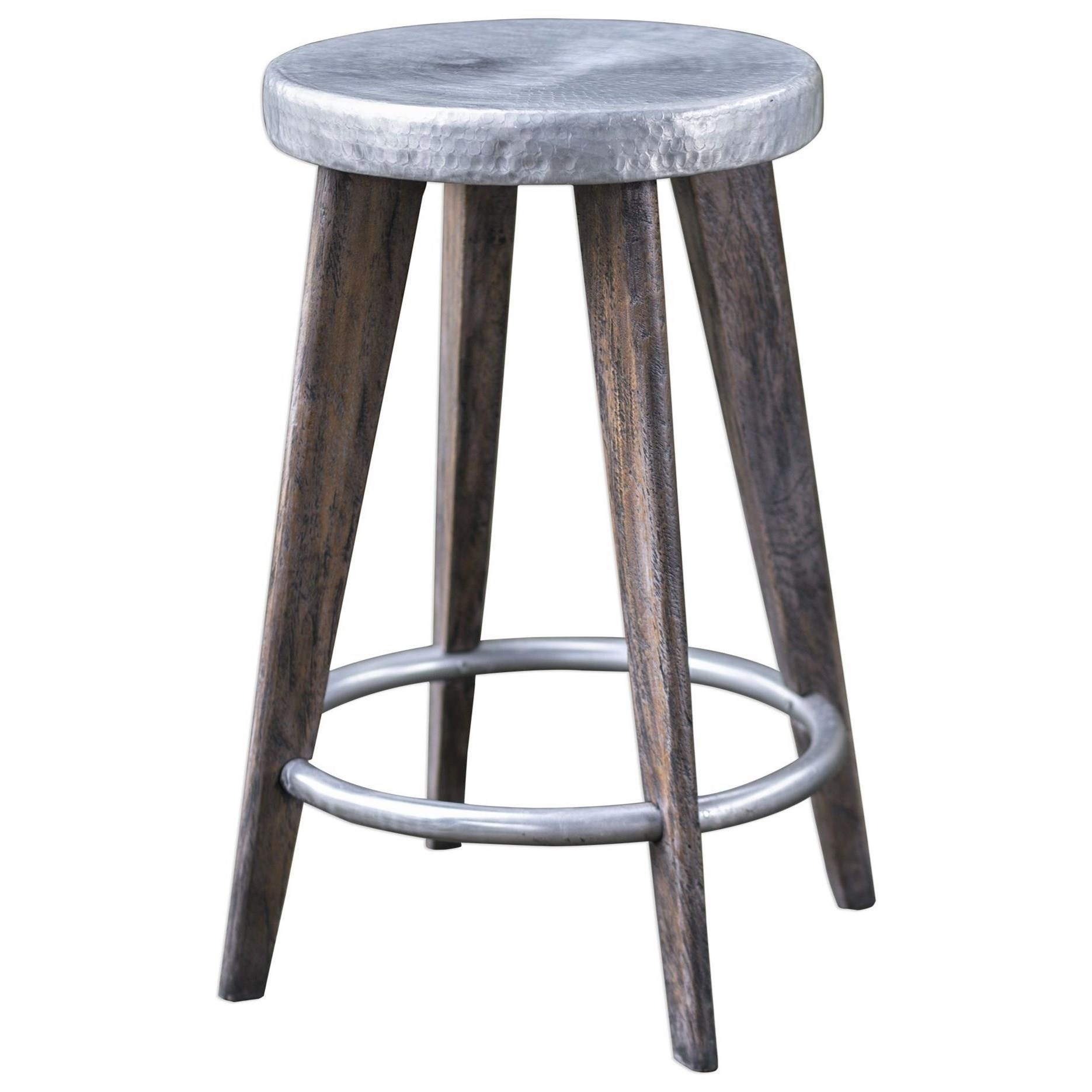 Maxen Hammered Top Counter Stool