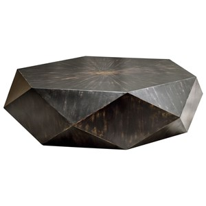 Uttermost Accent Furniture Volker Worn Black Coffee Table