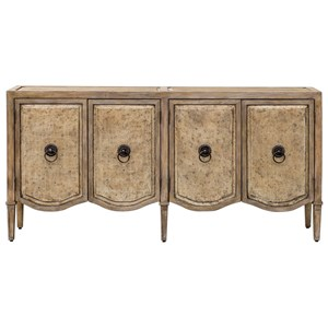Uttermost Accent Furniture Thina Champagne Console Cabinet