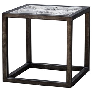 Uttermost Accent Furniture Baruti Iron Frame End Table