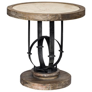 Uttermost Accent Furniture Sydney Light Oak Accent Table