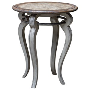 Uttermost Accent Furniture Mariah Round Gray Accent Table