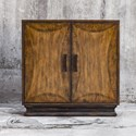 Uttermost Accent Furniture Sanele Honey Stain Console Cabinet