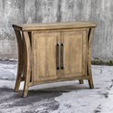 Uttermost Accent Furniture Cary Distressed Console Cabinet