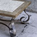 Uttermost Accent Furniture Mona Light Honey Stained Coffee Table