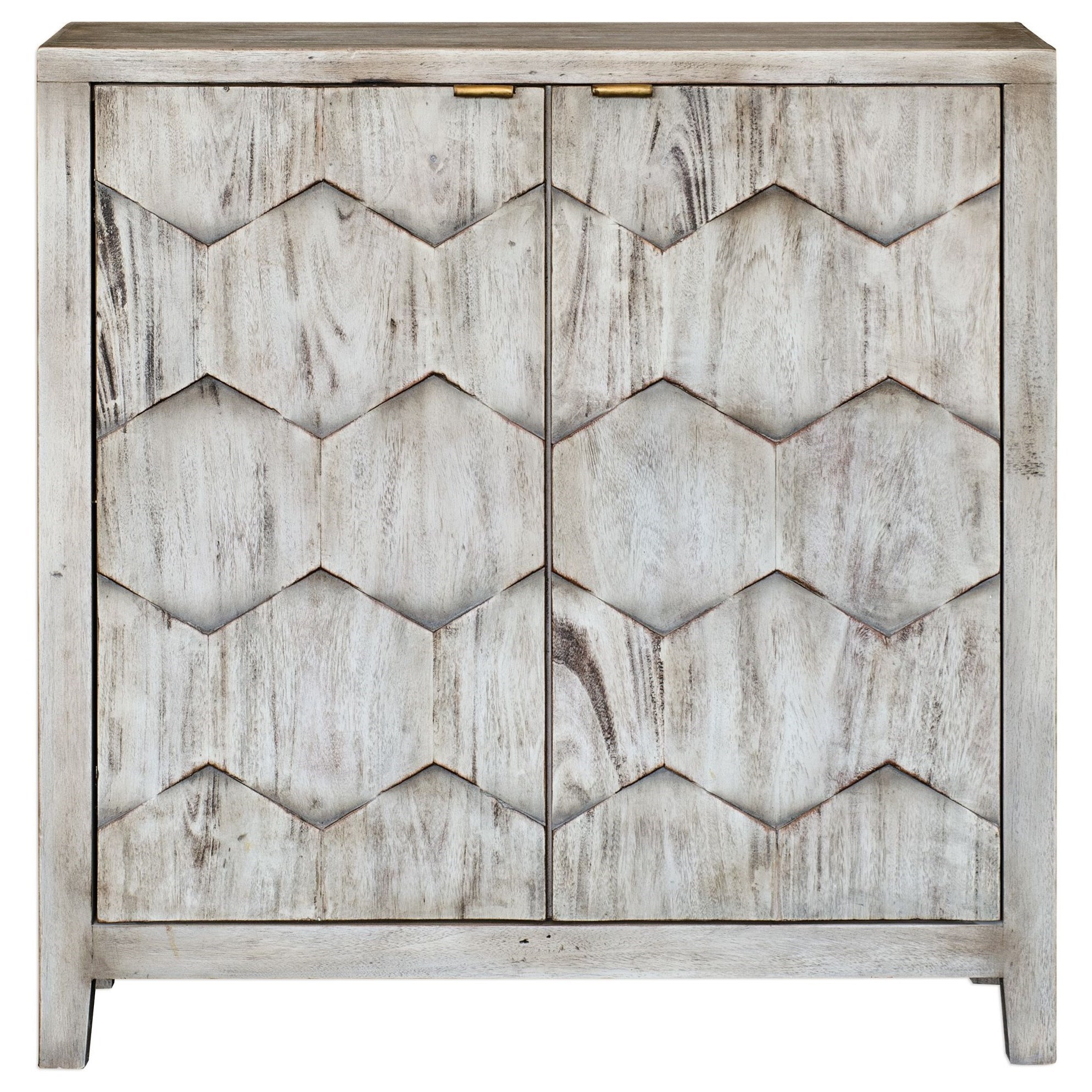 Accent Furniture - Chests Catori Smoked Ivory Console Cabinet by Uttermost at Goffena Furniture & Mattress Center