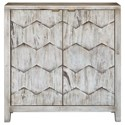Uttermost Accent Furniture - Chests Catori Smoked Ivory Console Cabinet - Item Number: 25862