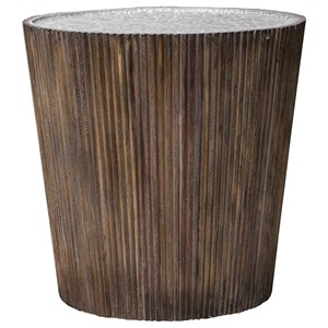Uttermost Accent Furniture Amra Reeded Round Accent Table