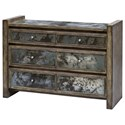 Uttermost Accent Furniture Darcell Gray Wash Accent Chest