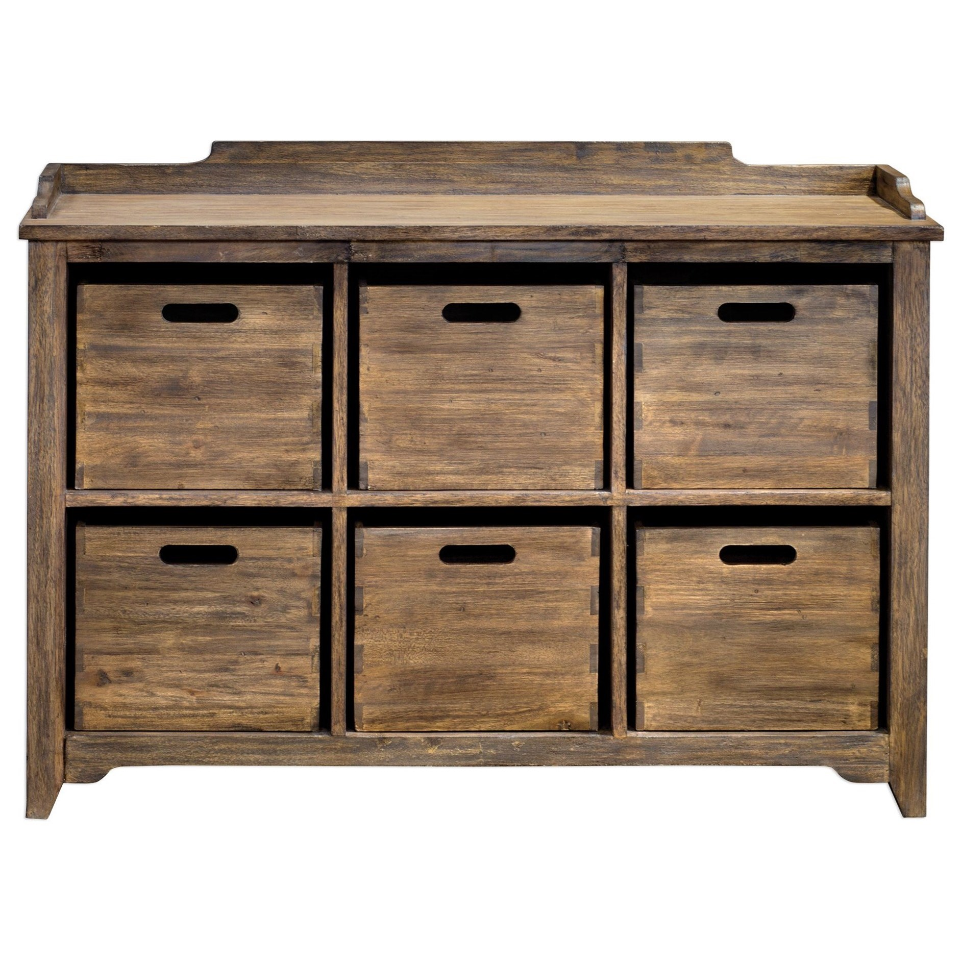 Accent Furniture - Chests Ardusin Driftwood Hobby Cupboard by Uttermost at Factory Direct Furniture