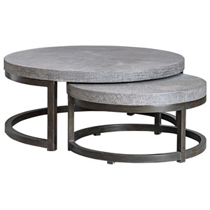 Uttermost Accent Furniture Aiyara Gray Nesting Tables, S/2