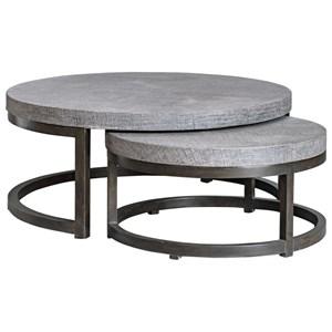 Aiyara Gray Nesting Tables, S/2