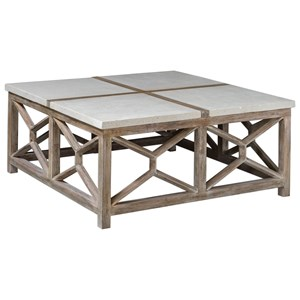Uttermost Accent Furniture Catali Stone Coffee Table