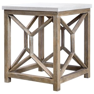 Uttermost Accent Furniture Catali Stone End Table