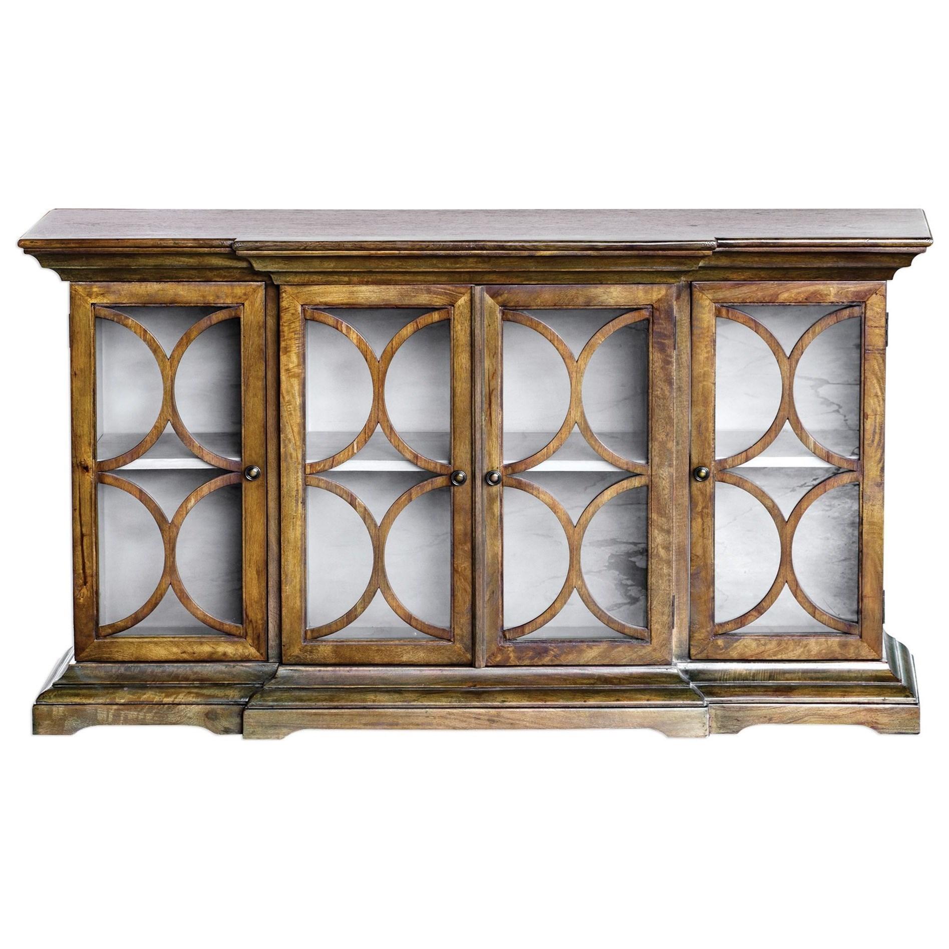 Uttermost Accent Furniture Chests 25895 Belino Mist 4 Door Cabinet