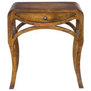 Uttermost Accent Furniture Cheryth Pecan End Table