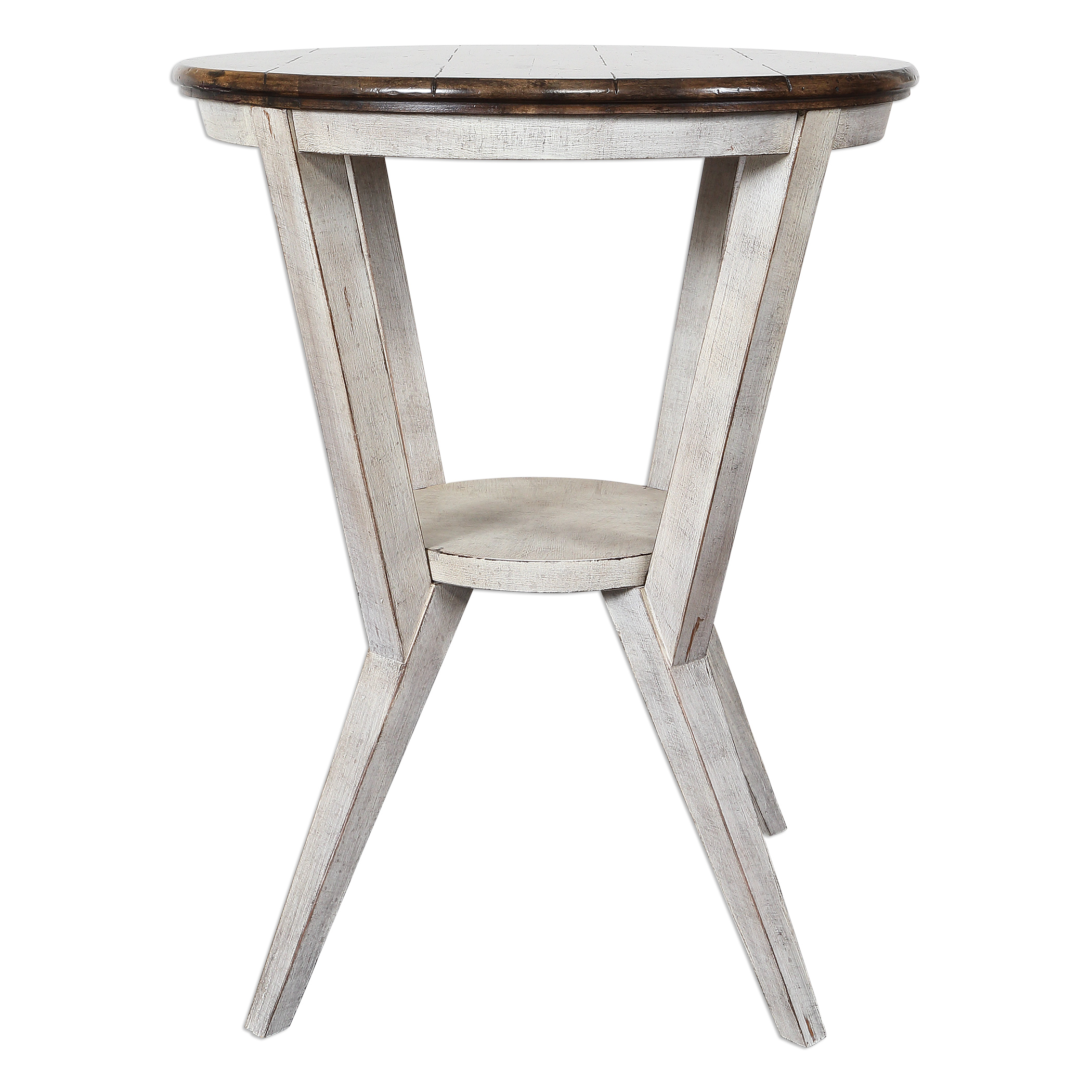 Uttermost Accent Furniture Delino Round Side Table - Item Number: 25915