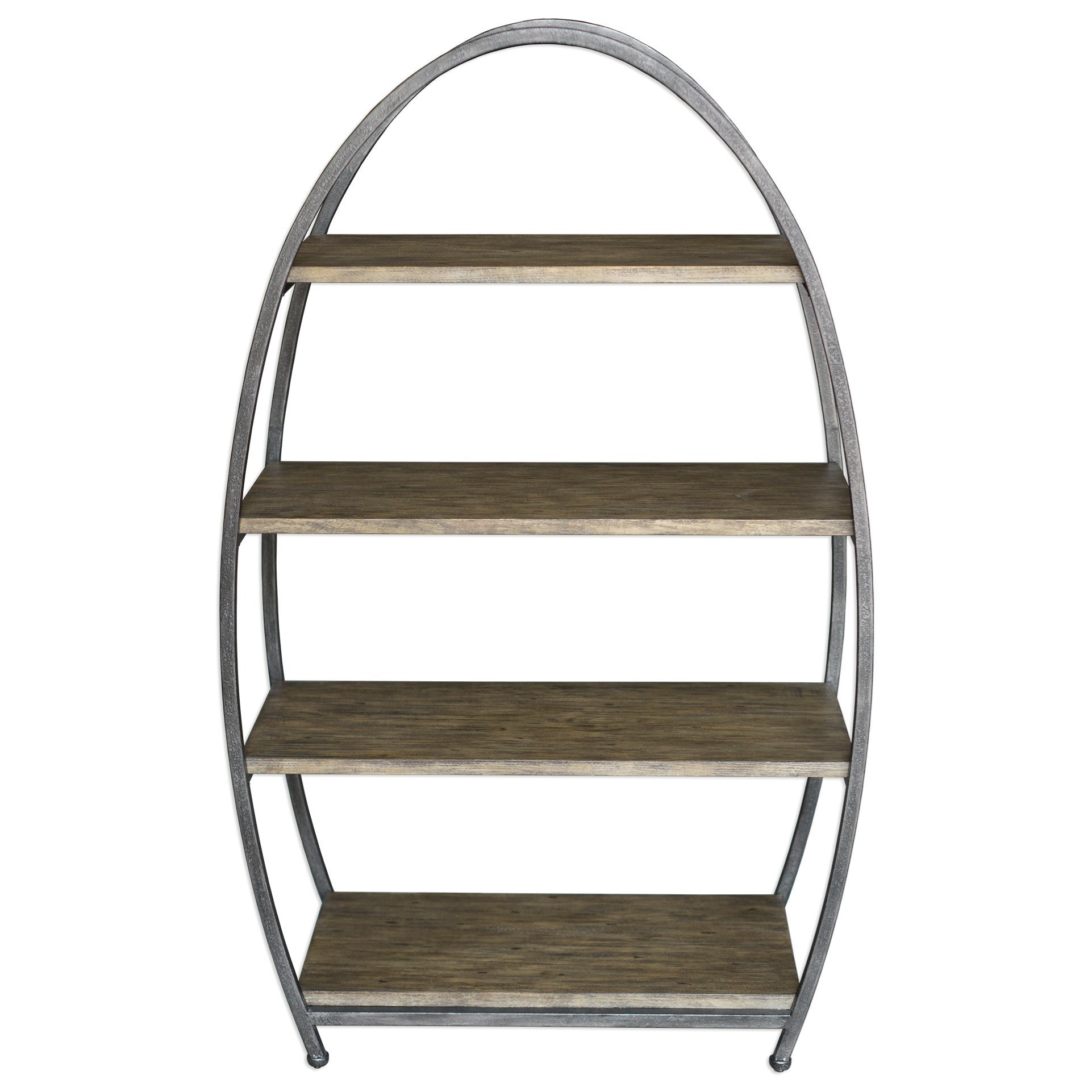 Accent Furniture - Bookcases  Matisa Textured Steel Etagere by Uttermost at Factory Direct Furniture