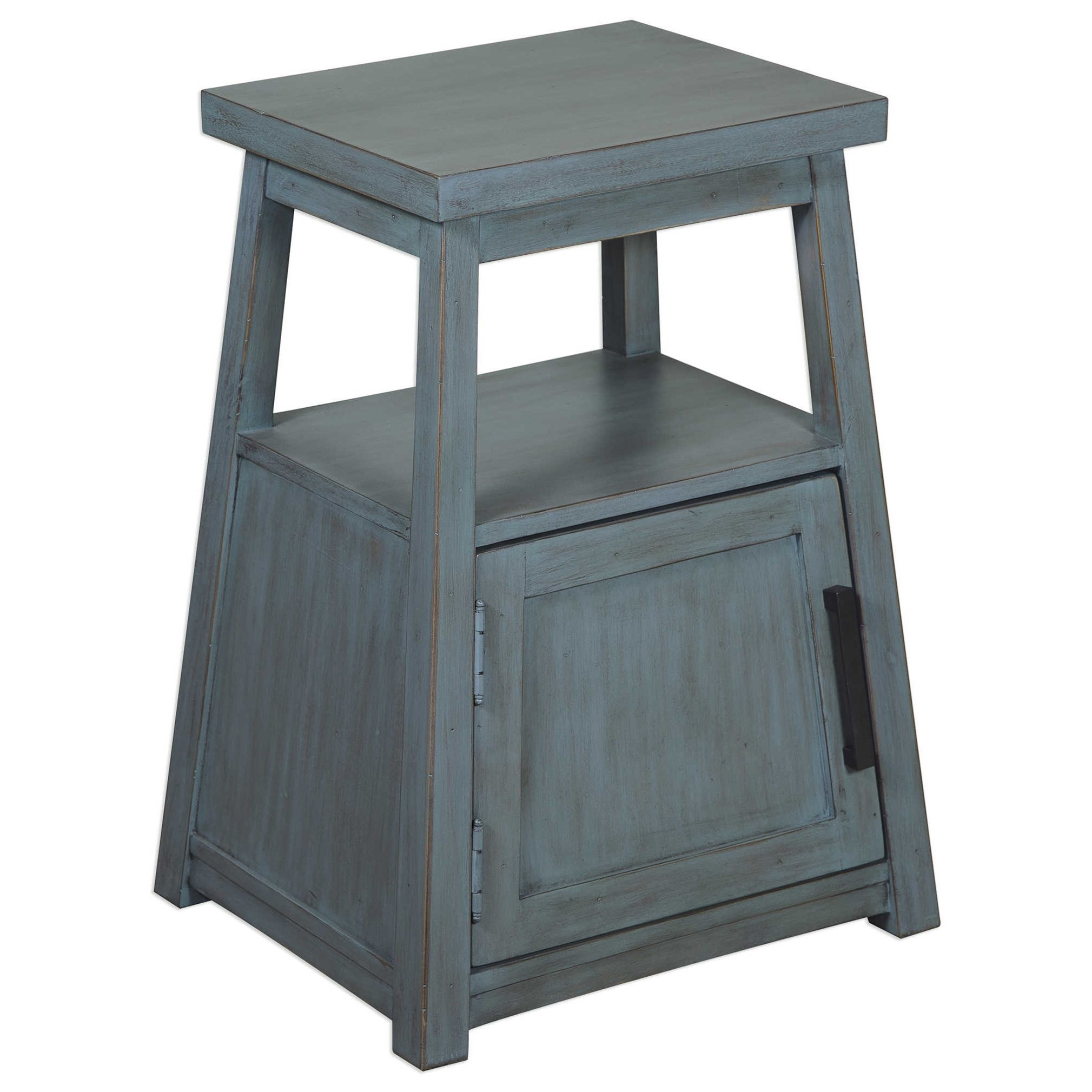 Uttermost Accent Furniture Cora Blue Wash Accent Table - Item Number: 25960